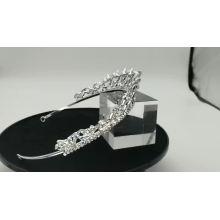 Corona de diamantes de imitación de cristal de boda de plata boda novia Tiara de ballet tocado para concurso