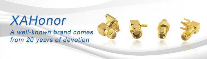 Messing/Gold überzogener Smb-gerades Verbindungsstück/Rf-Koax-Leiterplatten-Berg-Verbindungsstück 4