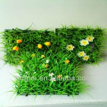 décoration de jardin / gazon artificiel bon marché d'aménagement paysager avec des fleurs