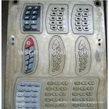 Compression du clavier moule & clavier silicone moules de caoutchouc