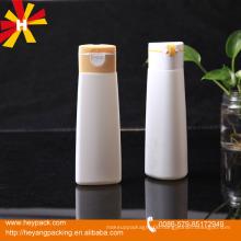 200ml/400ml Oval HDPE Plastic shampoo Bottle