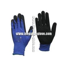 13 G Nylon Liner Atmungsaktiver schäumender Latex-Handschuh-5222