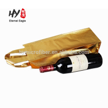 Custom laminated single wine non woven shopping bag