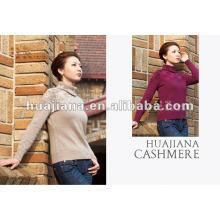Mulheres da moda Terninha de camisola de cashmere