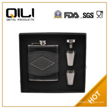 FDA 7oz stainless steel personalized wine flasks gift set