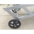 Garden Mesh Wheel Sun Lounger