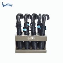 Le support d'affichage de parapluie fait sur commande de carton de vente chaude de saison des pluies, support d'étalage de plancher de parapluie approvisionnent directement l'usine