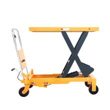 Xilin 800kg 1760lbs  small scissor table lift manual hydraulic lift table