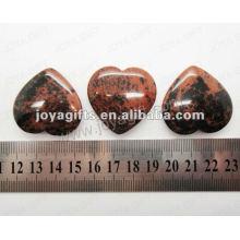 35MM forma de corazón de piedra de cisne de oro, de alta pulido, de alta calidad, forma de corazón natural de piedra