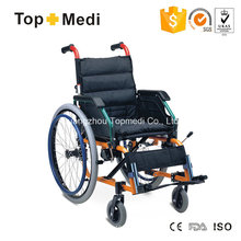 Cadeira de rodas infantil pediátrica manual de alumínio Topmedi