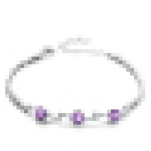 Damenmode 925 Sterling Silber Amethyst Armband
