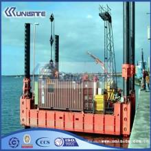 Barcaza de pontón personalizada de alta calidad, barcaza de hélice para la venta (USA3-016)