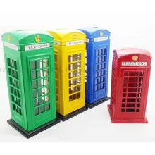 OEM Promotional Metal Telephone Booth Design Saving Money Box