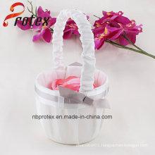 2015 Latest Wedding Handmade Flower Basket for Flower Girl