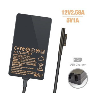 12V 2.58A Slim Laptop AC Adapter for Microsoft PRO3