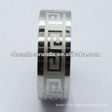 Anéis de aço inoxidável de aço inoxidável 316L dos homens por atacado