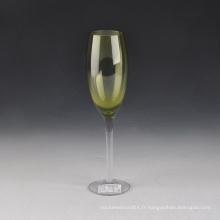 Flûtes à champagne en verre soufflé à la main