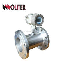 dn100 or customized fuel oil air water digital turbine type turbine flowmeter