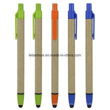 Рециркулированные бумажные Стилус шариковая ручка (ЛТ-C814)