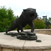 parque temático estátua personalizado metal bronze fundição metal tigre esculturas