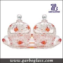 Glass Jar and Tray Set& Gift Glass/Glassware Set (TZ-GB1718MI-P2)