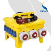 Saip Saipwell Китай Высокое Качество Немецкий Пользовательский Много Размер IP65 Водонепроницаемый Гнездо Коробки CE Power Электрическая Розетка