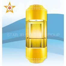Golden Color Glass Панорамный 13, 10, 8 человек Пассажирский лифт