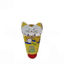 cute baby cosmetic packaging recycled compact plastic tube for face wash cream