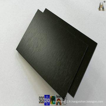 Panneau en aluminium brossé noir pour revêtement mural