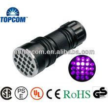 High Power 21pcs mini uv torch for checking money