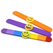 Wholesale Cheap Custom Silicone Led Slap Snap Wristband Ruler