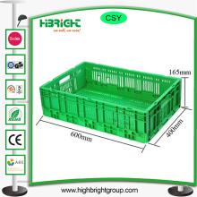 Récipient pliable de bacs de caisse en plastique de stockage