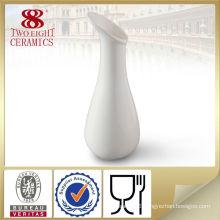 pure white stoneware flower vase for wedding