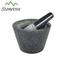 100% natural custom granite marble stone mortar and pestle 13X8cm