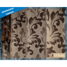 Blankout Silver Jacquard Chenille Curtain