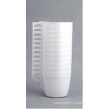 U-Shape Plastic Coffee Cup with Handle 6oz/180ml