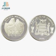 Top Quality Custom Silver Logo Metal Lembrança Presente Moeda para Promoção Comemorativa