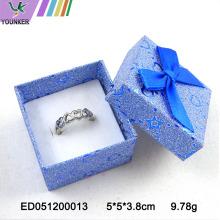Glitter Ring Box Cutome Logo con lazos de cinta