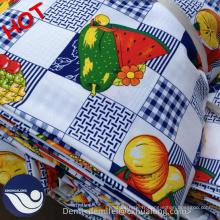 100% polyester Mini tissu imprimé mat coloré