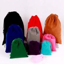 Custom Logo Size Color Jewelry Velvet Pouch Drawstring Gift Bag