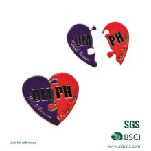 Metall Herzförmige Anstecknadel für Werbegeschenk (xd-09014)