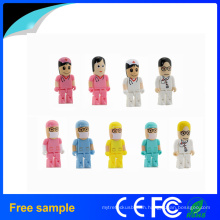 2016 China Supplier 4GB 8GB Plastic Doctor Shape USB Pendrive