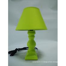 Lampe de table verte en céramique