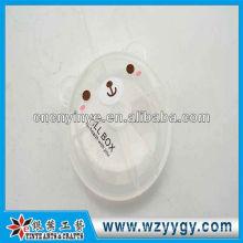 Милый медведь OEM форме коробки пластиковые портативных таблетки для детей