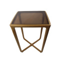 table d'appoint moderne transparente