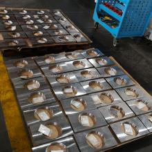 Bearbeitung der Stützplatte des Zapfen-Kugelhahns