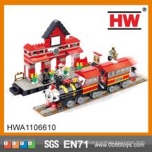 ABS Материал COGO Блок City Set 464PCS мини-поезд