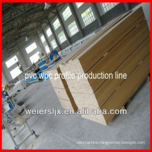 professional lesco wood plastic composite pvc profile extrusion line