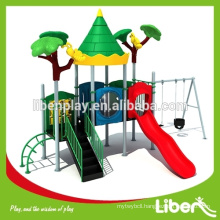 Green Covered Nature Playground Swings For Kids