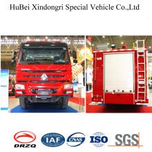 25ton HOWO Foam Fire Truck Euro3